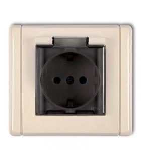 FLEXI Gniazdo bryzgoszczelne 2P+Z SCHUKO (klapka dymna) Karlik 1FGPB-1sd
