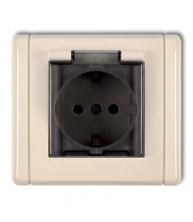 FLEXI Gniazdo bryzgoszczelne z uziemieniem SCHUKO 2P+Z (klapka dymna, przesłony torów prądowych) Karlik 1FGPB-1sdp
