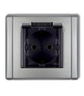FLEXI Gniazdo bryzgoszczelne z uziemieniem SCHUKO 2P+Z (klapka dymna, przesłony torów prądowych) Karlik 7FGPB-1sdp