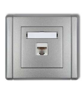 FLEXI Gniazdo komputerowe pojedyncze 1xRJ45, kat. 5e, ekranowane, 8-stykowe Karlik 7FGK-1e