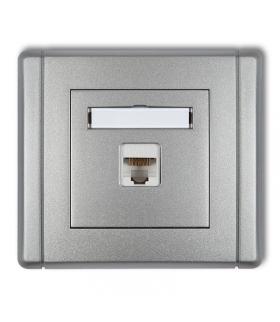 FLEXI Gniazdo komputerowe pojedyncze 1xRJ45, kat. 6, 8-stykowe Karlik 7FGK-3