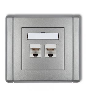 FLEXI Gniazdo komputerowe podwójne 2xRJ45, kat. 5e, 8-stykowe Karlik 7FGK-2