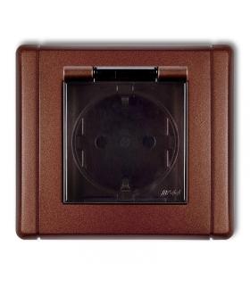 FLEXI Gniazdo bryzgoszczelne z uziemieniem SCHUKO 2P+Z (klapka dymna, przesłony torów prądowych) Karlik 9FGPB-1sdp