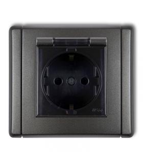 FLEXI Gniazdo bryzgoszczelne 2P+Z SCHUKO (klapka dymna) Karlik 11FGPB-1sd