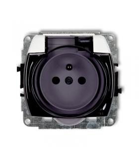 TREND Mechanizm gniazda bryzgoszczelnego z uziemieniem 2P+Z (klapka dymna, przesłony torów prądowych) Karlik GPB-1zdp