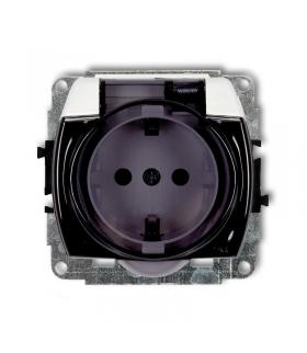 TREND Mechanizm gniazda bryzgoszczelnego z uziemieniem SCHUKO 2P+Z (klapka dymna, przesłony torów prądowych) Karlik GPB-1sdp