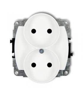 TREND Mechanizm gniazda podwójnego do ramki poziomej bez uziemienia 2x2P (przesłony torów prądowych) Karlik GPR-2p