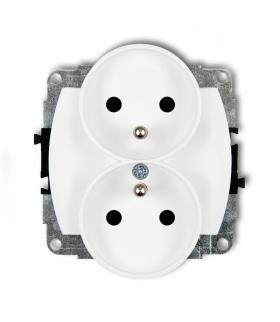 TREND Mechanizm gniazda podwójnego do ramki poziomej z uziemieniem 2x(2P+Z) (przesłony torów prądowych) Karlik GPR-2zp