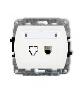 TREND Mechanizm gniazda telefonicznego pojedynczego 1xRJ11, 4-stykowy Karlik GT-1