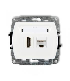 TREND Mechanizm gniazda pojedynczego HDMI + gniazda komp. poj. 1xRJ45, kat. 5e, 8-stykowy Karlik GHK