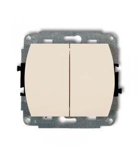 TREND Mechanizm łącznika zwiernego, świecznikowego (dwa klawisze bez piktogramów, wspólne zasilanie) Karlik 1WP-44.1