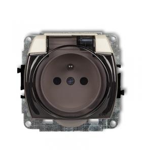 TREND Mechanizm gniazda bryzgoszczelnego z uziemieniem 2P+Z (klapka dymna, przesłony torów prądowych) Karlik 1GPB-1zdp