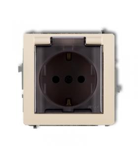 TREND Mechanizm gniazda bryzgoszczelnego z uziemieniem SCHUKO 2P+Z (klapka dymna, przesłony torów prądowych) Karlik 1GPB-1sdp