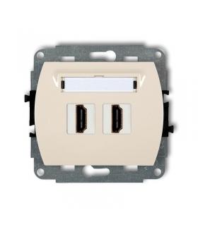 TREND Mechanizm gniazda podwójnego HDMI Karlik 1HDMI-2