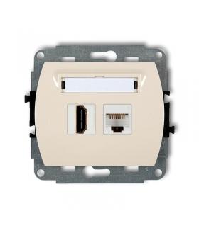 TREND Mechanizm gniazda pojedynczego HDMI + gniazda komp. poj. 1xRJ45, kat. 5e, 8-stykowy Karlik 1GHK
