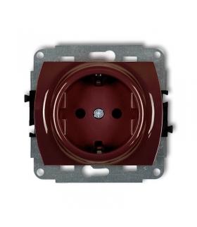 TREND Mechanizm gniazda pojedynczego z uziemieniem SCHUKO 2P+Z (przesłony torów prądowych) Karlik 4GP-1sp
