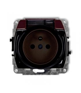 TREND Mechanizm gniazda bryzgoszczelnego z uziemieniem 2P+Z (klapka dymna, przesłony torów prądowych) Karlik 4GPB-1zdp