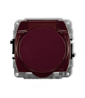 TREND Mechanizm gniazda bryzgoszczelnego z uziemieniem SCHUKO 2P+Z (klapka brązowa, przesłony torów prądowych) Karlik 4GPB-1sp