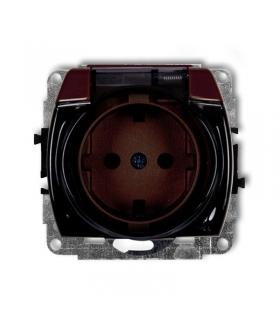 TREND Mechanizm gniazda bryzgoszczelnego z uziemieniem SCHUKO 2P+Z (klapka dymna, przesłony torów prądowych) Karlik 4GPB-1sdp