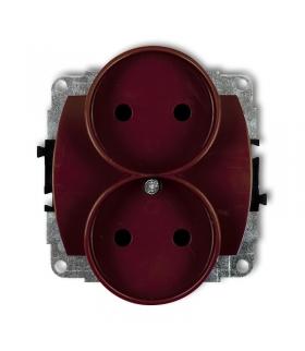 TREND Mechanizm gniazda podwójnego do ramki poziomej bez uziemienia 2x2P (przesłony torów prądowych) Karlik 4GPR-2p