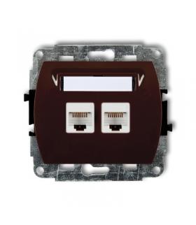 TREND Mechanizm gniazda komputerowego podwójnego 2xRJ45, kat. 5e, 8-stykowy Karlik 4GK-2