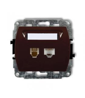 TREND Mechanizm gniazda telefonicznego pojedynczego 1xRJ11 + komputerowego pojedynczego 1xRJ45, kat. 5e, 8-stykowy Karlik 4GTK