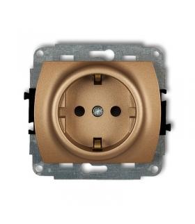 TREND Mechanizm gniazda pojedynczego z uziemieniem SCHUKO 2P+Z (przesłony torów prądowych) Karlik 8GP-1sp