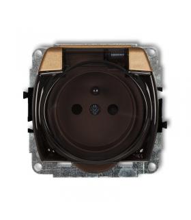 TREND Mechanizm gniazda bryzgoszczelnego z uziemieniem 2P+Z (klapka dymna, przesłony torów prądowych) Karlik 8GPB-1zdp
