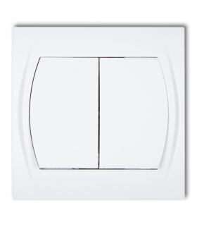LOGO Łącznik zwierny, świecznikowy (dwa klawisze bez piktogramów, wspólne zasilanie) Karlik LWP-44.1
