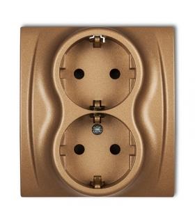 LOGO Gniazdo podwójne z uziemieniem SCHUKO 2x(2P+Z) (przesłony torów prądowych) Karlik 8LGP-2sp