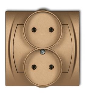 LOGO Gniazdo podwójne do ramki 2x2P (bez przesłon) Karlik 8LGPR-2