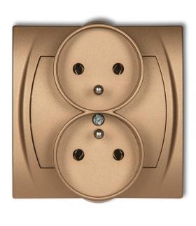 LOGO Gniazdo podwójne do ramki 2x(2P+Z) (bez przesłon) Karlik 8LGPR-2z