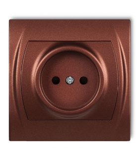 LOGO Gniazdo pojedyncze bez uziemienia 2P (przesłony torów prądowych) Karlik 9LGP-1p