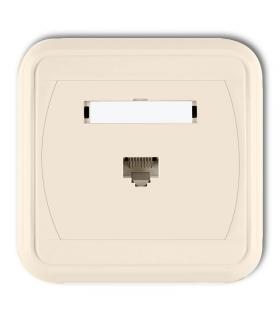 LIZA Gniazdo komputerowe pojedyncze 1xRJ45, kat. 6, 8-stykowe Karlik 1GLK-3