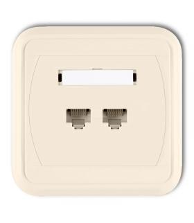 LIZA Gniazdo komputerowe podwójne 2xRJ45, kat. 5e, 8-stykowe Karlik 1GLK-2
