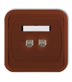 LIZA Gniazdo telefoniczne podwójne 2xRJ11, 4-stykowe Karlik 4GLT-2