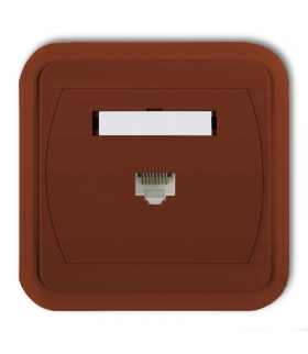 LIZA Gniazdo komputerowe pojedyncze 1xRJ45, kat. 5e, 8-stykowe Karlik 4GLK-1