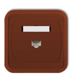 LIZA Gniazdo komputerowe pojedyncze 1xRJ45, kat. 6, 8-stykowe Karlik 4GLK-3