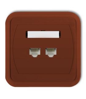 LIZA Gniazdo komputerowe podwójne 2xRJ45, kat. 5e, 8-stykowe Karlik 4GLK-2