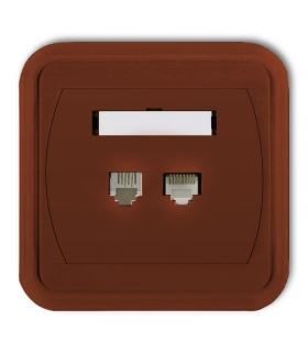 LIZA Gniazdo telefoniczne pojedyncze 1xRJ11, 4-stykowe + gniazdo komputerowe pojedyncze 1xRJ45, kat. 5e, 8-stykowe Karlik 4GLTK