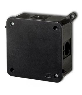 Puszka instalacyjna hermetyczna CZARNA bez złączek 100x100mm Karlik 12PHS-5