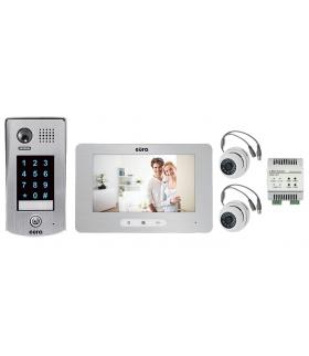 WIDEODOMOFON VDP-39A5 7'' dotykowy szyfrator i ekran, pamięć obrazów, nagrywanie, moduł VXA-69A5 i 2 kamery CCTV w zestawie