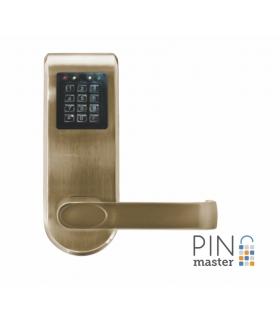 SZYLD Z KONTROLĄ DOSTĘPU EURA ELH-92B9 BRASS PINMASTER z funkcją otwierania kodem PIN wysyłanym przez SMS