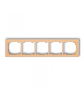 DECO Ramka uniwersalna pięciokrotna z tworzywa DECO Pastel Matt Karlik 45DR-5