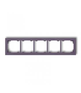 DECO Ramka uniwersalna pięciokrotna z tworzywa DECO Pastel Matt Karlik 50DR-5