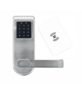 SZYLD Z KONTROLĄ DOSTĘPU EURA ELH-82B9 SILVER z klawiaturą dotykową, sterowaniem SMS, czytnikiem Mifare, modułem Bluetooth i uni