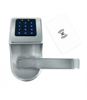 SZYLD Z KONTROLĄ DOSTĘPU ''EURA'' ELH-80B9 SILVER z klawiaturą dotykową, sterowaniem SMS, czytnikiem Mifare, modułem Bluetooth