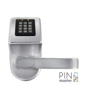 SZYLD Z KONTROLĄ DOSTĘPU EURA ELH-90B9 SILVER PINMASTER z funkcją otwierania kodem PIN wysyłanym przez SMS