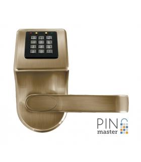 SZYLD Z KONTROLĄ DOSTĘPU EURA ELH-90B9 BRASS PINMASTER z funkcją otwierania kodem PIN wysyłanym przez SMS
