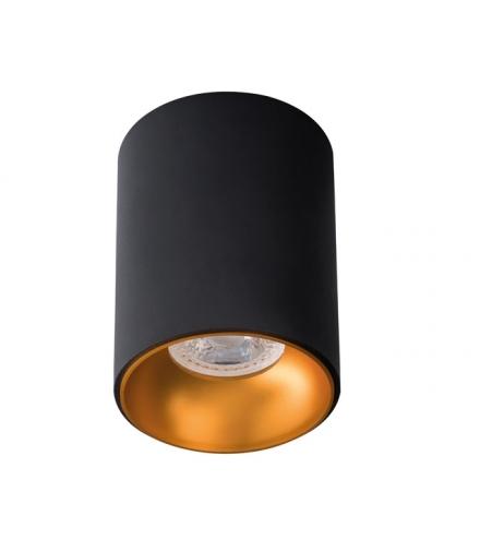 Sufitowa oprawa punktowa spot tuba RITI GU10 B/G czarna + złoto Kanlux 27571